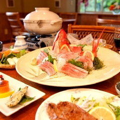 【日帰りプラン】 〜ご夕食&客室6時間滞在〜 ご夕食は金目鯛のお刺身&しゃぶしゃぶ♪ <Aコース>