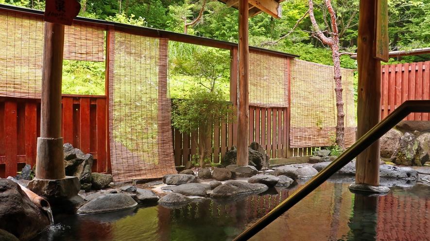 自然の緑と温泉に癒やされる至福のときをお過ごしください
