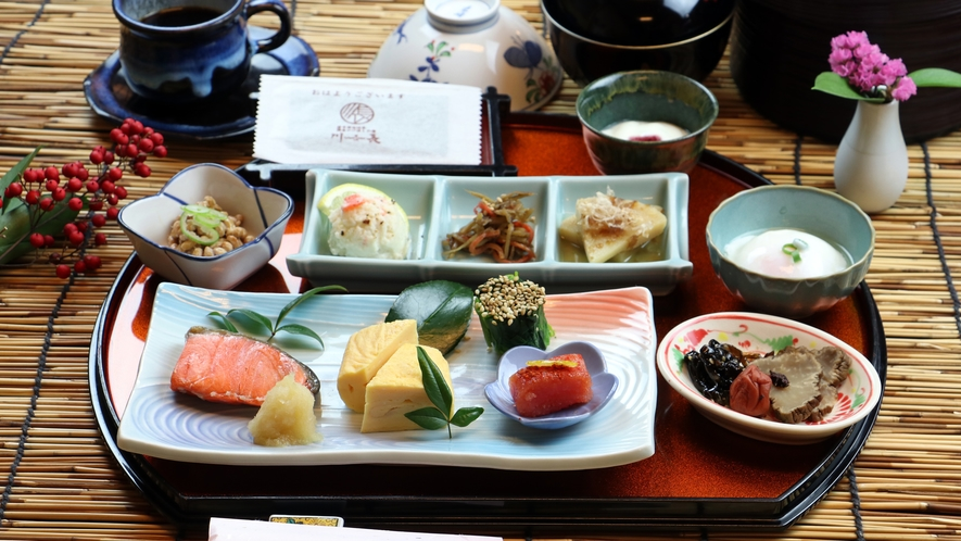 (朝食一例)岩手の食材をふんだんに使った和朝食をご用意致します