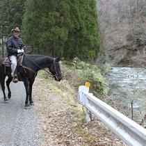 -【宿近くの乗馬施設】周辺のトレッキング 川沿い