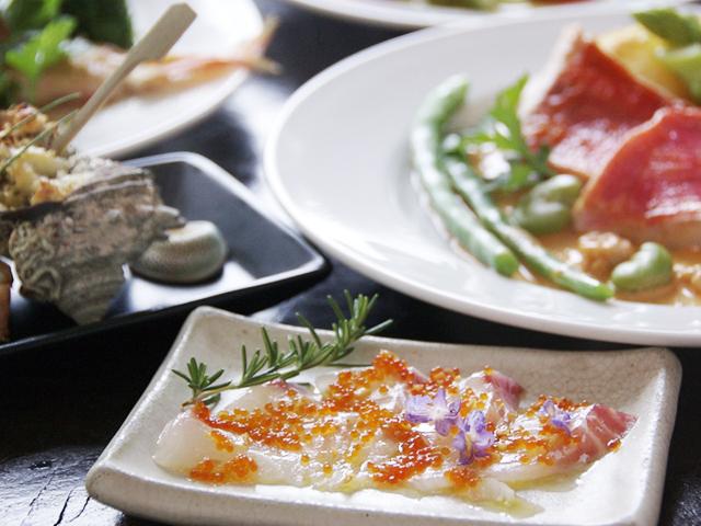 真鯛ローズマリーマリネ