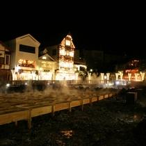 *湯畑の夜景