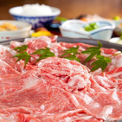 (夕食)口の中でとろける高級和牛のしゃぶしゃぶ
