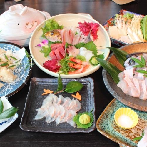 (夕食)冬の味覚クエのフルコース