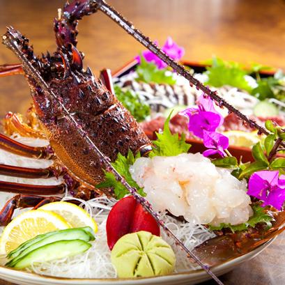 (夕食)ここでしか食べられない美味伊勢海老姿造り