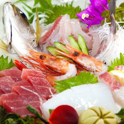 (夕食)朝獲鮮魚のお造り