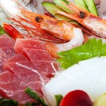 (夕食)南紀の地魚お刺身盛り合わせ