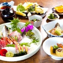 (夕食)ベーシックプラン料理 旬の魚介盛りを中心に南紀の美味を堪能