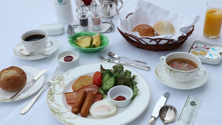 *【洋朝食】さわやかな朝の目覚めには美味しいお食事を。一日のスタートを鮮やかなお食事でお楽しみくださ
