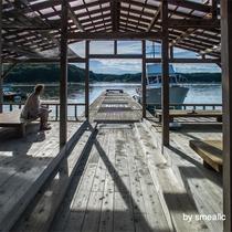 桟橋でひと休み