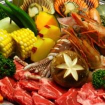 ある日の海鮮BBQセット☆季節や仕入れにより内容は変わります♪