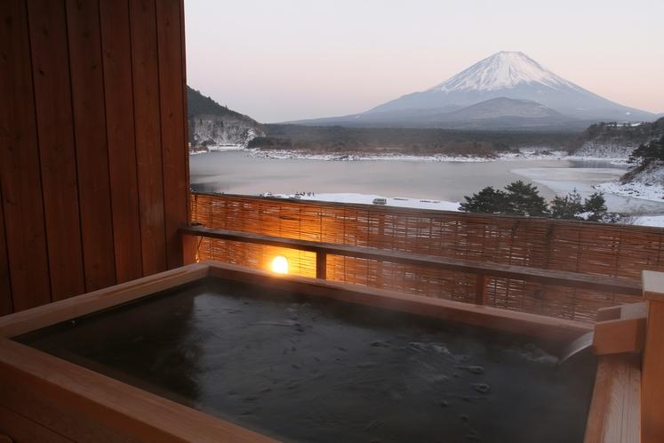 貸切露天風呂夜景富士