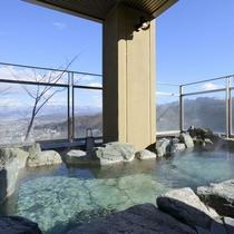 【露天風呂】塩田平と山々を見渡す別所随一の展望