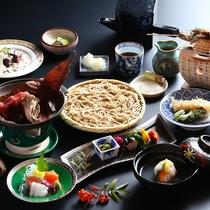 ■【基本】信州こだわり会席≪信州牛の林檎味噌朴葉焼&いわな塩焼&手打ち蕎麦≫ 冬の一例