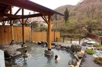 【春の露天風呂】大谷川