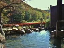 【露天風呂「大谷川」女性用】紅葉シーズン