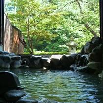 【貸切露天風呂】「大谷川」グリーンシーズン