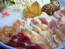 鶏鍋 白肝入
