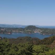 亀山山頂からの眺め(北東)三陸の海岸線が一望になれます♪