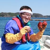 若旦那が獲れたて魚貝類をご提供♪