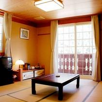 【コテージ和室一例】畳でごろごろしたい方に♪テレビ・冷暖房完備で快適にお過ごしいただけます。
