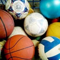 各種色んなボールを取りそろえております♪1つに付き210円でレンタル可能♪