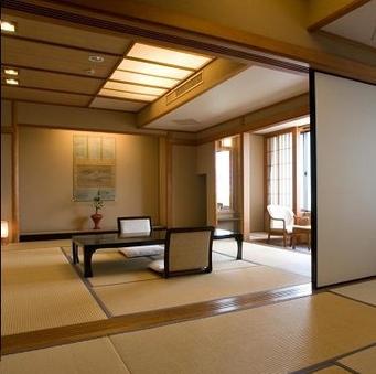 【華野館】ゆったり二間の和室12.5畳+9畳<3階・4階>