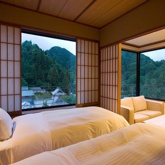 【華野館】特別室『山荷葉』和洋室12.5畳+ツイン<最上階>