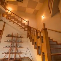 大浴場までには15段程の階段がございます。