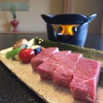 和牛ステーキ鉄板焼き