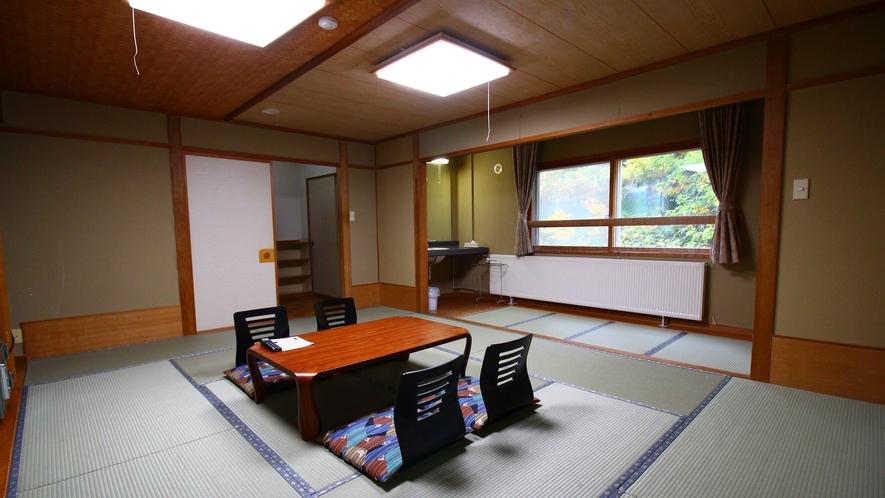 グループに◎広め客室【15~18畳】15畳以上の広い客室をご用意します。