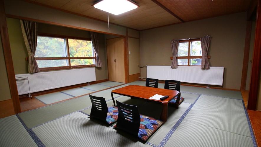 グループに◎広め客室【15~18畳】眺望はゲレンデ側ではなく山側です。