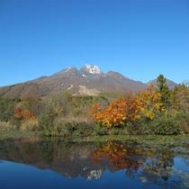 【秋の妙高山】 いもり池にて