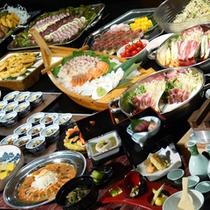 *【バイキング】2012冬/新潟の山海の幸を盛り込んだお料理を、バイキング形式でお楽しみください