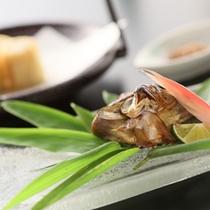 *【太閤御膳「松」/】鮎葱包焼き2013春~秋/盛りつけの色合いも爽やかな「鮎葱包焼き」