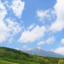 *【周辺観光】:黒姫<車で30分>/黒姫から見た妙高山(6月撮影)