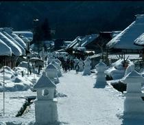 大内宿 雪祭り