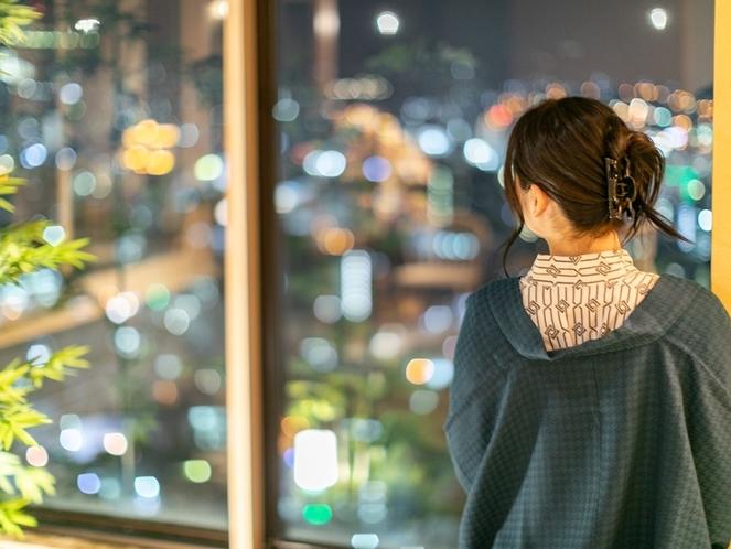 【プレミアムスイート】長崎らしい市民が灯す温かな夜景をお愉しみください。