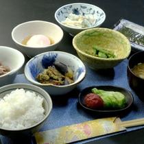 【朝食】朝はあっさりと田舎の和定食で!