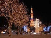 毎年12月にはホワイトイルミネーションが大通公園を彩ります