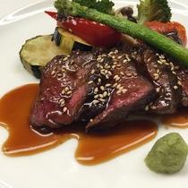 新鮮な食材を使った、和欧風創作料理(一例)
