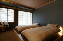 檜展望風呂付き客室。