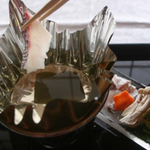 *ご夕食イメージ:天然鯛のしゃぶしゃぶ