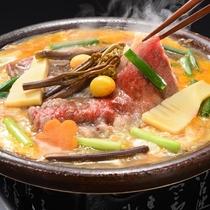 ■山形牛の山菜柳川風鍋