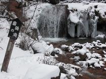 霧降の滝・冬