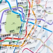 ◆清澄白河駅は地下鉄「半蔵門線」と「大江戸線」両方使えて便利◆