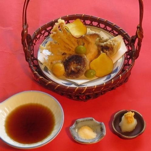 秋の味覚「茸の天ぷら」