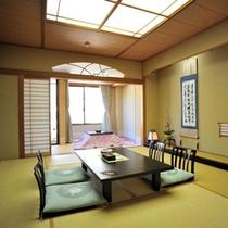 花舞樹の館1階【卯槌】四季の移ろいを感じる大自然に囲まれたお部屋でごゆるりとお過ごしください