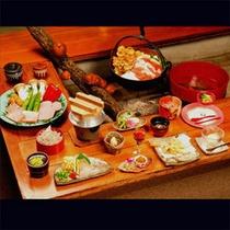 *【夕食一例/囲炉裏料理】