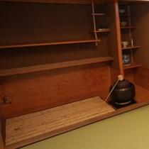 【本館】特別和洋室「草枕」 茶室 茶釜、水屋、茶器も揃う本格設備
